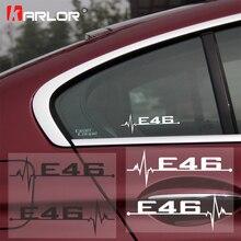 2 шт./лот для BMW E46 E90 E60 E39 E36 E28 E30 E34 E61 E62 E91 E92 автомобильные аксессуары личности для дверей и окон и наклейки на автомобиль