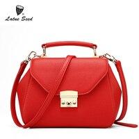 Latue семя бренд сумка для женщины 2018 новая сумочка сумка Курьерские сумки большой Ёмкость простой Повседневное сплошной красный мешок