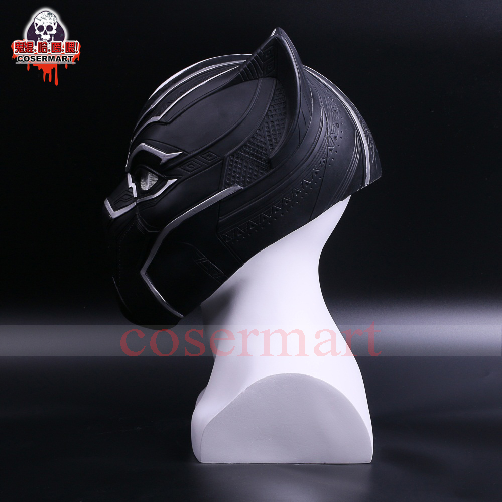 2017 New Captain America Helmet Black Panther Helmet  Civil War Cosplay Mask  Halloween Party Prop (4)