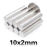 500pcs Neodymium magnet 10x2 Rare Earth Strong Round permanent 10*2 mm fridge Electromagnet NdFeB magnetic DISC free shipping