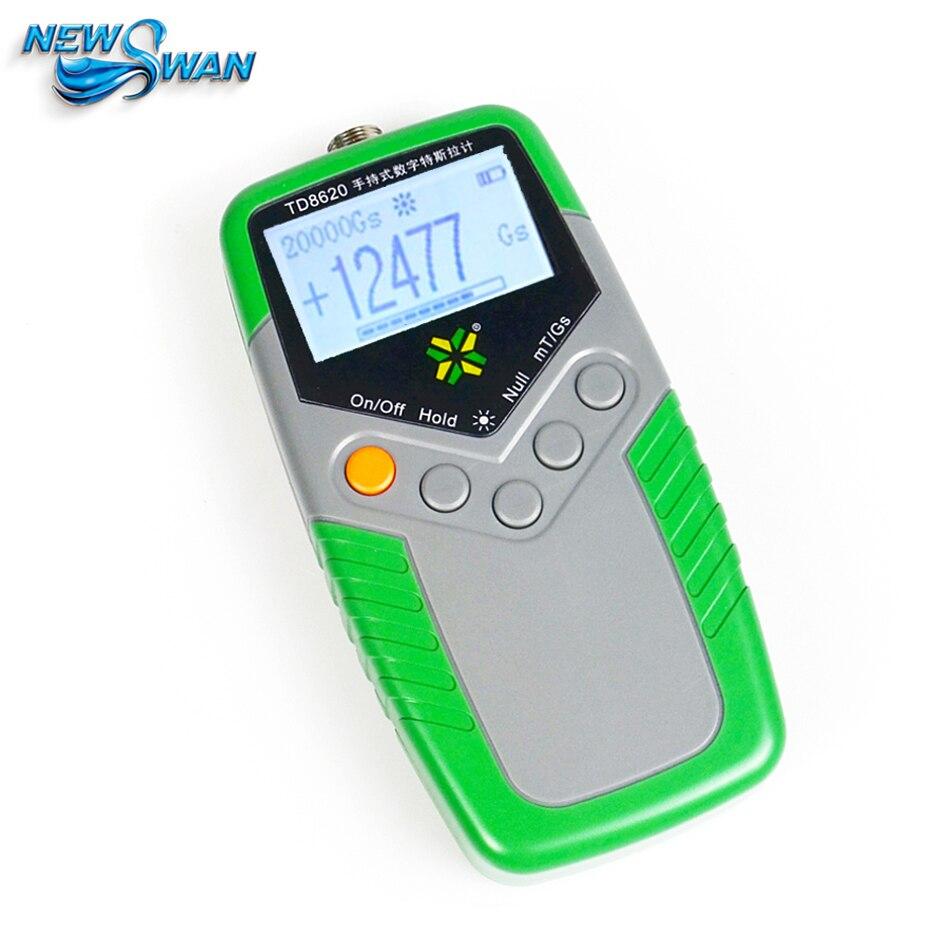 TD8620 Permanente Magnete Gauss Meter Handheld Digital Tesla Meter Misuratore Flusso Magnetico Superficie di Test di Campo Magnetico 5% di Precisione