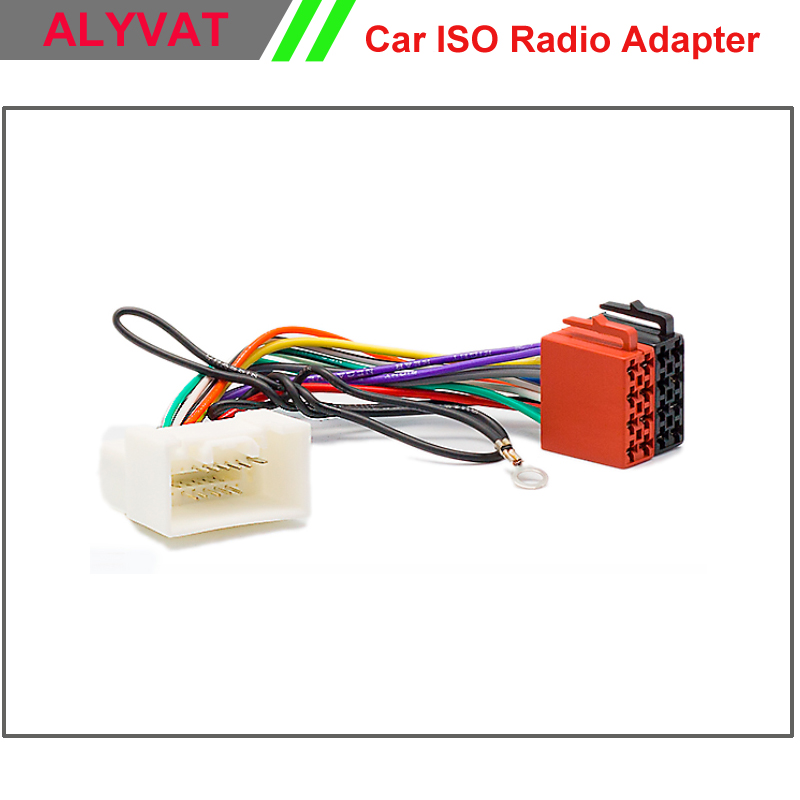 Adaptador iso cablagens som do carro para mitsubishi 2007 em diante conector auto radio adaptor chumbo loom plugue fio de cabo