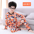 Lindo bebé ropa de noche de 2016 nueva muchacha de la llegada mono animales ropa para dormir de manga larga pijamas set niños ropa del cabrito del algodón