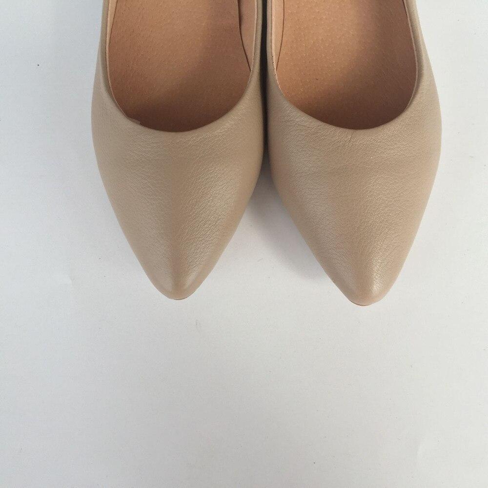 Pur Couche Careaymade Mode Dames Peu En Chaussures Color Pointu grey 2018 Avec Bouche Véritable Basse white Cuir Profonde Nude Supérieure Marée wqI58qznrx