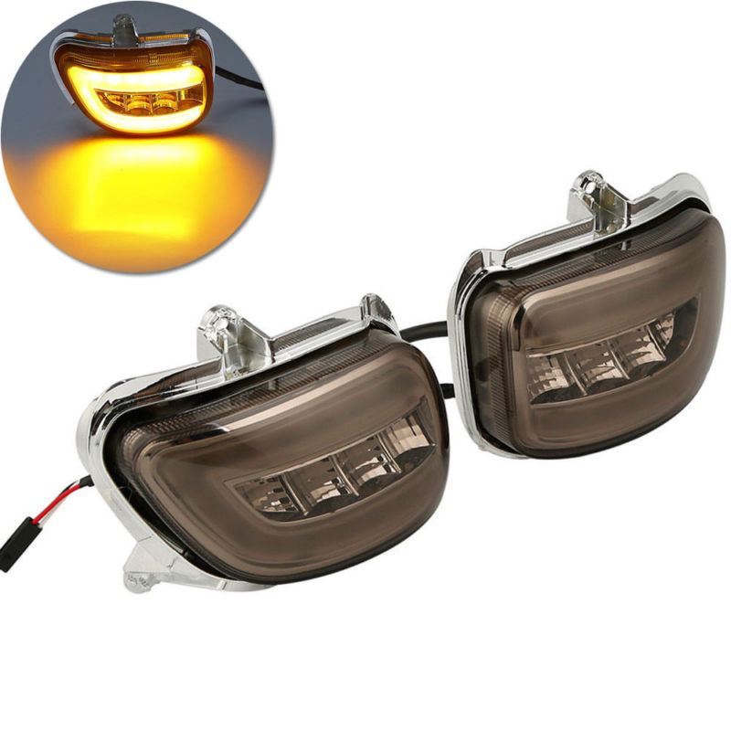 Front LED Turn Signals Smoke For Honda Goldwing GL1800 2001-2017 F6B 13-17 Motorcycle front led turn signals smoke for honda goldwing gl1800 2001 2017 f6b 13 17 motorcycle