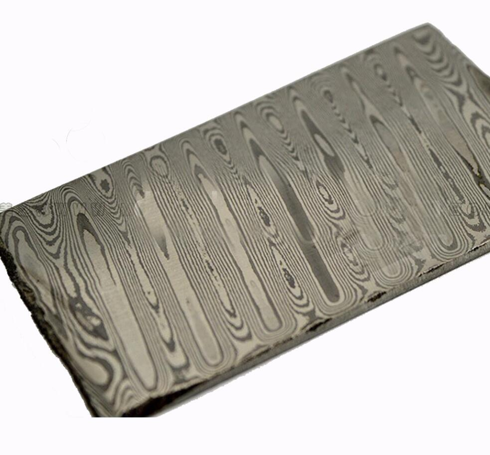 Odin lines Damascus pattern steel plate Knife blade Material Produce DIY tools (non heat treatment non Pickling) raindrops figure damascus pattern steel plate knife blade material produce diy tools non heat treatment non pickling