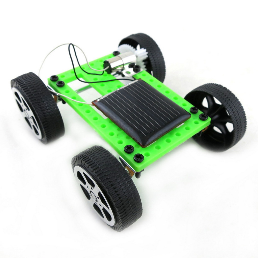 10pcs mini solar powered toy diy car kit kids children educational gadget hobby funny assembled puzzle toys car hot selling in solar toys from toys