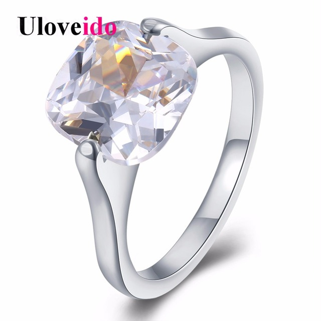 1e4b25debf0 Uloveido 20% Off Top Wedding Rings for Women Engagement Ring Female Silver  Color Alibaba-express Jewellery Bijoux Anillo TGR191