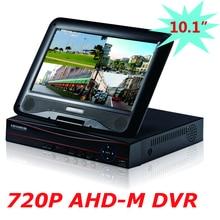 Бесплатная Доставка Оптовые 4 Канала 720 P AHD 10.1 »ЖК-Гибридный HVR NVR DVR 4ch Домашнего Видеонаблюдения