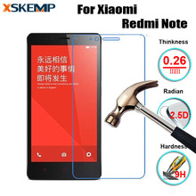 Ultra-thin Glossy Premium 0.3MM Tempered glass Film For Xiaomi RedMi NOTE Toughened Protective No Fingerprint Screen Protector