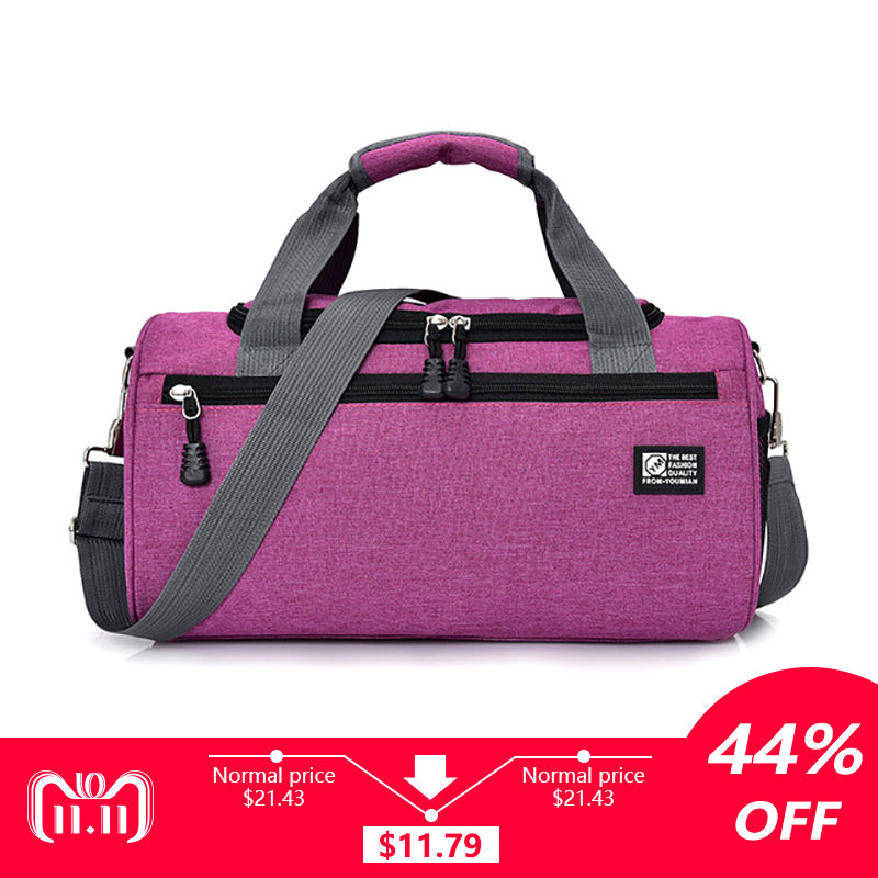 Sports Bags For Gym Women Men Gym Fitness Bag Waterproof Cylinder One Shoulder Outdoor Sport bag Swimming Travel Package Handbag nylon waterproof sports bag fitness bag profession men and women gym shoulder bag surper light travel luggage crossbody bags