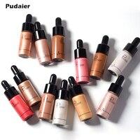 Pudaier 12 pcs/ensemble Beauté Liquide Surligneur Maquillage Surligneur Crème Anti-cernes Pour Le Visage Chatoyant Lueur Ultra-concentré Maquiagem