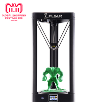 2018 3D Printer  Flsun QQ Auto-Level Large Size Pre-assembly Delta 3D Printer HeatBed Touch Screen Wifi Power Resume