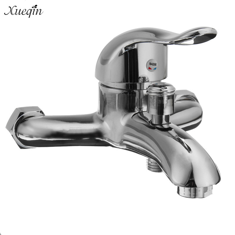 Xueqin Chrome Wall Mounted Bathroom Faucet Bath Tub Shower Faucets Mixer Tap Mixer Hot And Cold Water Tap chrome polish wall mount bathroom sink tub faucet hot and cold water mixer tap