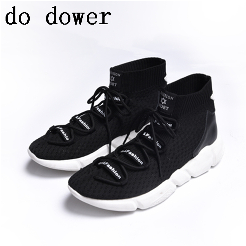 Luxury Trainers Summer Male Adult Knitting Shoes Flats Spring Black Shoes New Men Sock Breathable Casual Print Shoes new men genuine leather shoes luxury trainers summer male adult shoes casual flats solid spring black lace up shoes