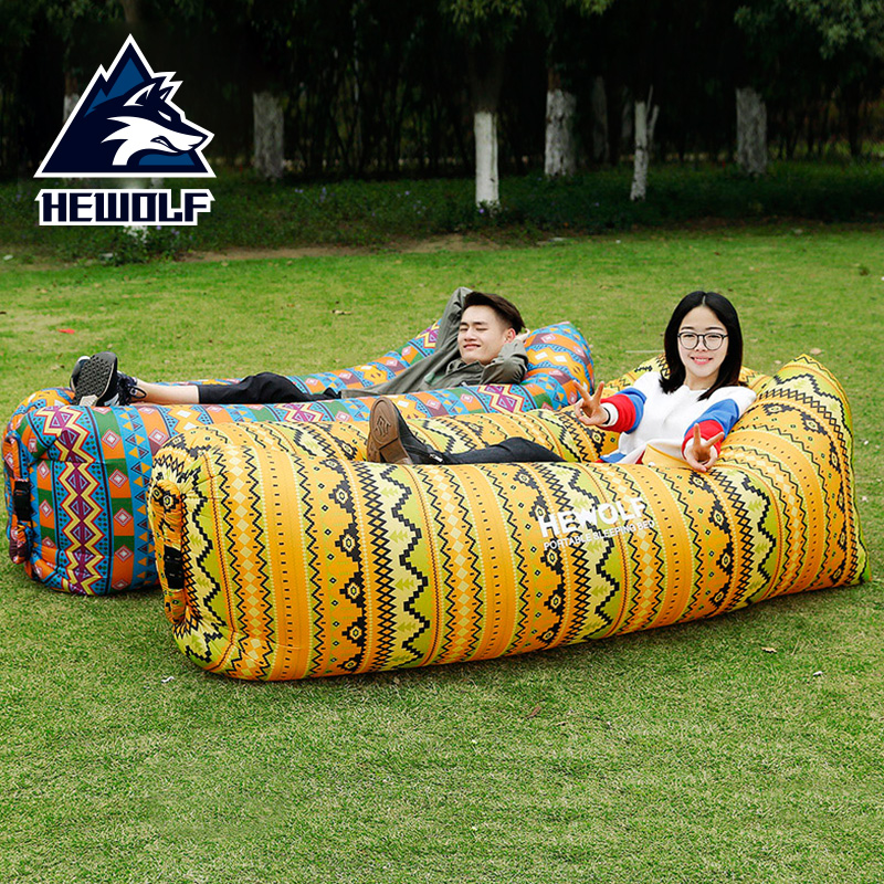 2018 Shape Hangout Air Sofitel Inflatable sofa lounger Lay bag fast folding sleeping air sofa for lazy bag water sleeping bag funny summer inflatable water games inflatable bounce water slide with stairs and blowers