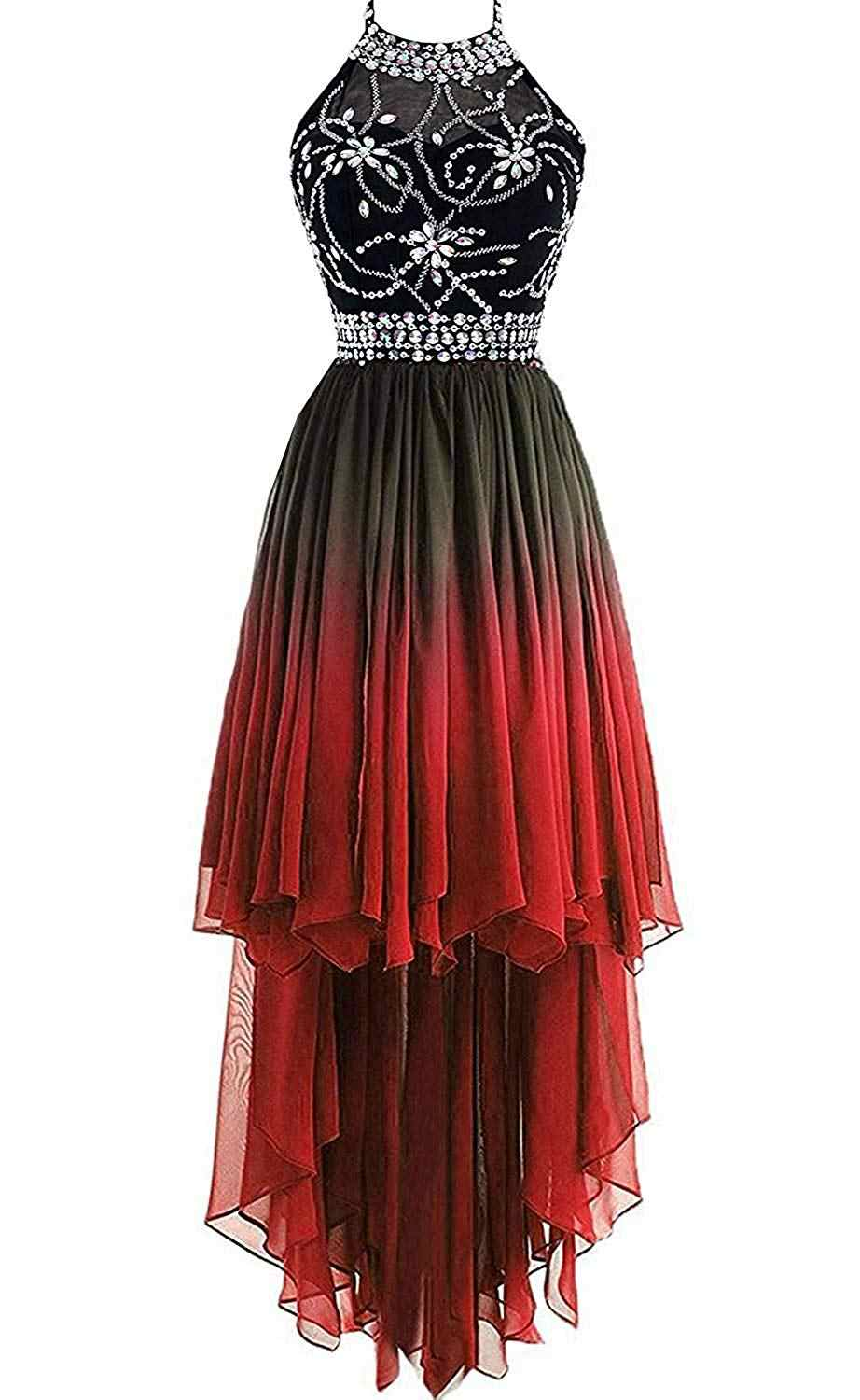 5ac95a0df86 Detail Feedback Questions about Bealegantom 2019 Halter Hi Lo Gradient  Chiffon Short Prom Dresses Ombre Beads Evening Homecoming Graduation Party  Gown ...