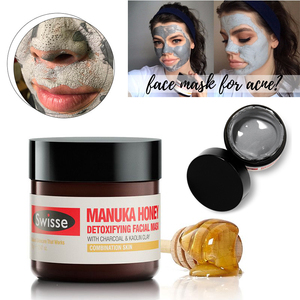 Original Swisse Manuka Honey Detoxifying Facial Mask 70g Charcoal and Kaolin Clay Cleansing Mask