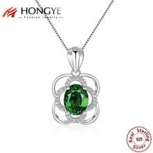 Buy HONGYE 2018 Luxury Vintage 925 Sterling Silver Green ...