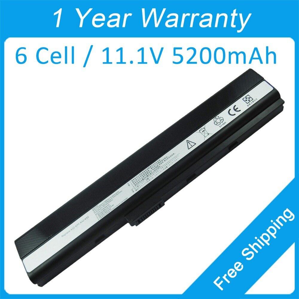 Аккумулятор для ноутбука asus K42JA K42JC K42JE K52JB K52JC K52JE K52JK K52KR K52DE K52JT K52JV K52JU K52XI A52JT, 5200 мАч