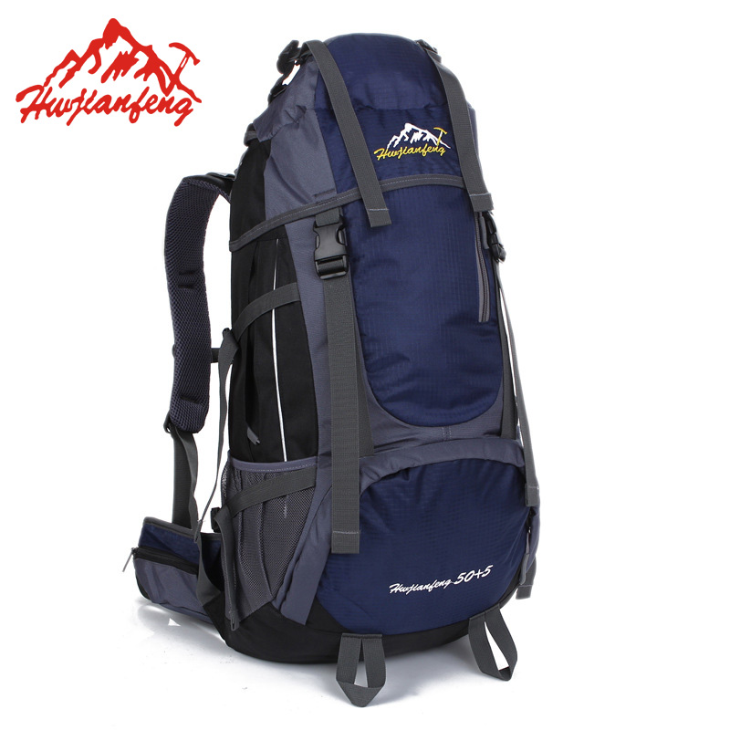 цена 55L Large Capacity Waterproof Outdoor Bag Men Women Sport Bagpack Sports Bag Hiking Backpacks Travel Backpac Camping Rucksack