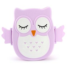 2 Layer Cartoon Owl Bento Lunch Box