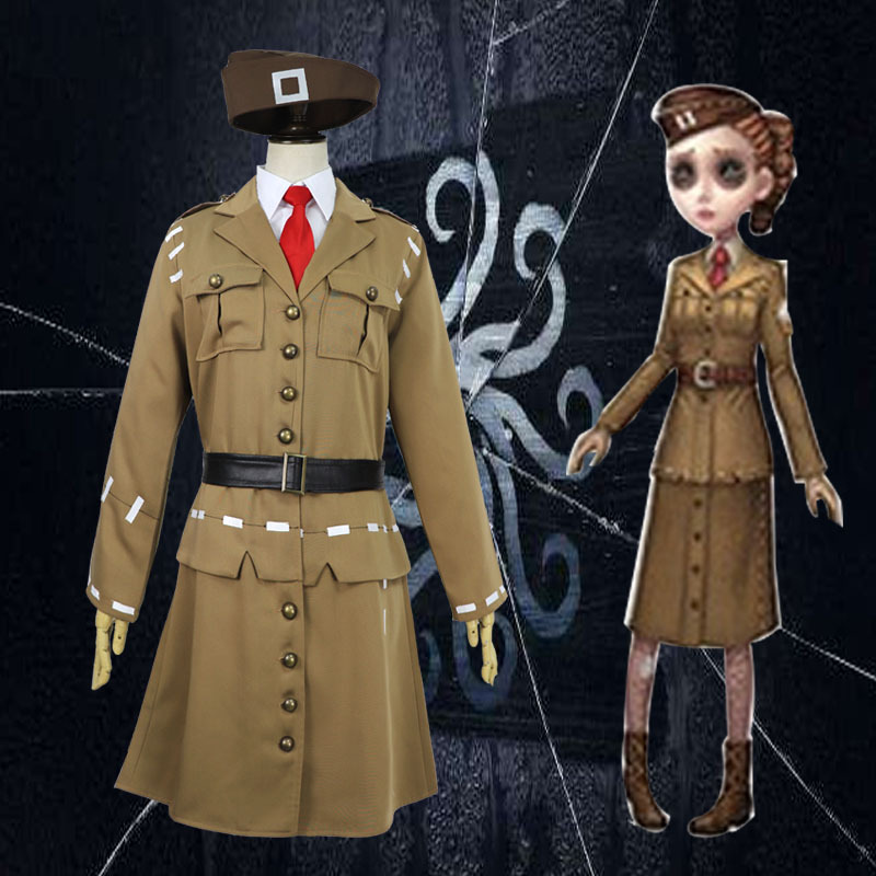 New Arrival Women Army Green Air Force Cosplay Costumes Turn Down Soldier Uniform Classic Games COS Ladies Costume Clothing