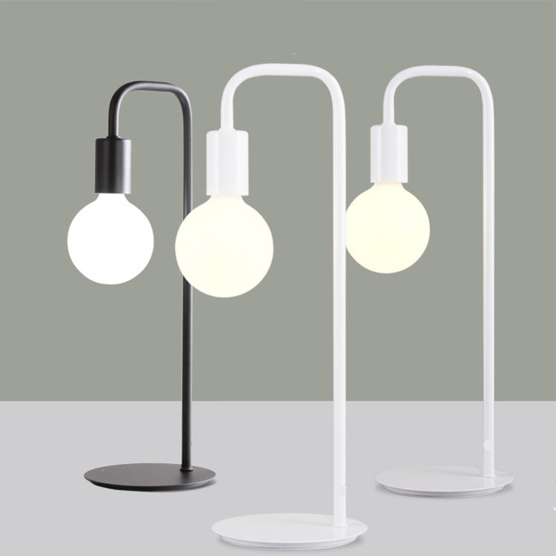 ФОТО Table lamp Iron LED for Study Bedroom light source modern E27 Light Reading Lamp desk lamp escritorio led light Energy saving