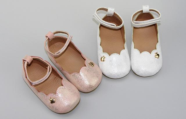 Nueva princesa Del Otoño de Cuero Genuino Mocasines Bebé Bebé de mary jane girls vestido de Zapatos Recién Nacido primer caminante Del Bebé Zapatos de suela dura