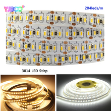5m/lot LED Strip 3014 204 LED/meter DC12V Waterproof White / Warm Super Bright Flexible Light