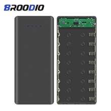 8*18650 Power Bank Case Dual USB 5V Mobile Phone Charger DIY Shell Type-C Battery Storage holder Charging Box For Xiaomi цена и фото
