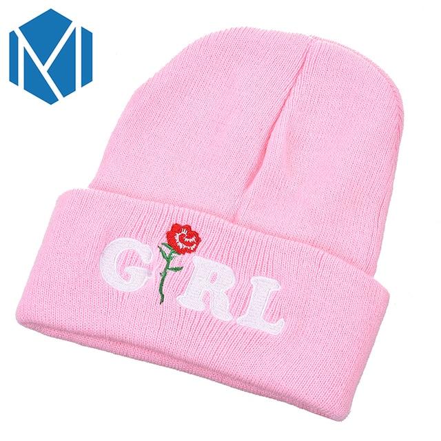 f4e5fa810a9 Miya Mona Women Men Beanies Winter Knitted Hat Headwear Female Warm  Skullies Male Crochet Bonnet Handmade Flower Cap Accessories