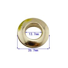 Torba hurtowa torebka oczka akcesoria sprzętowe torebki 1 2 calowe oczko 200 sztuk partia za pośrednictwem dhl fedex tanie tanio NoEnName_Null dia26 7mm Metal Eyelets