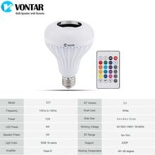 Wireless Bluetooth Speaker+12W RGB Bulb LED Lamp 110V 220V Smart Led Light Music Player Audio with Remote Control
