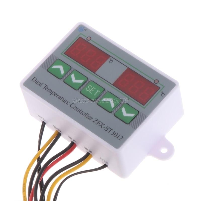 Switch Dual Probe Temperature Controller Incubator Regulator Thermostat