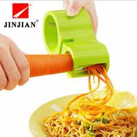Rebanadoras de verduras en espiral multifunción doble rallador cortador de fideos Premium Zucchini Pasta espagueti afilador de cuchillos 2018