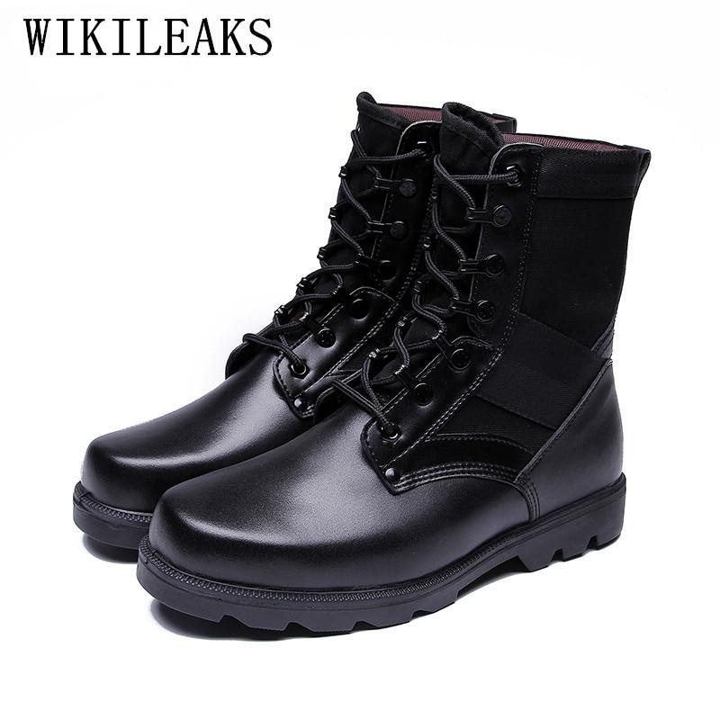 Дезерты Сапоги и ботинки для девочек мужчин Открытый Армии восхождение Сапоги и ботинки для девочек кожа Военно-тактические Сапоги и ботин... ...