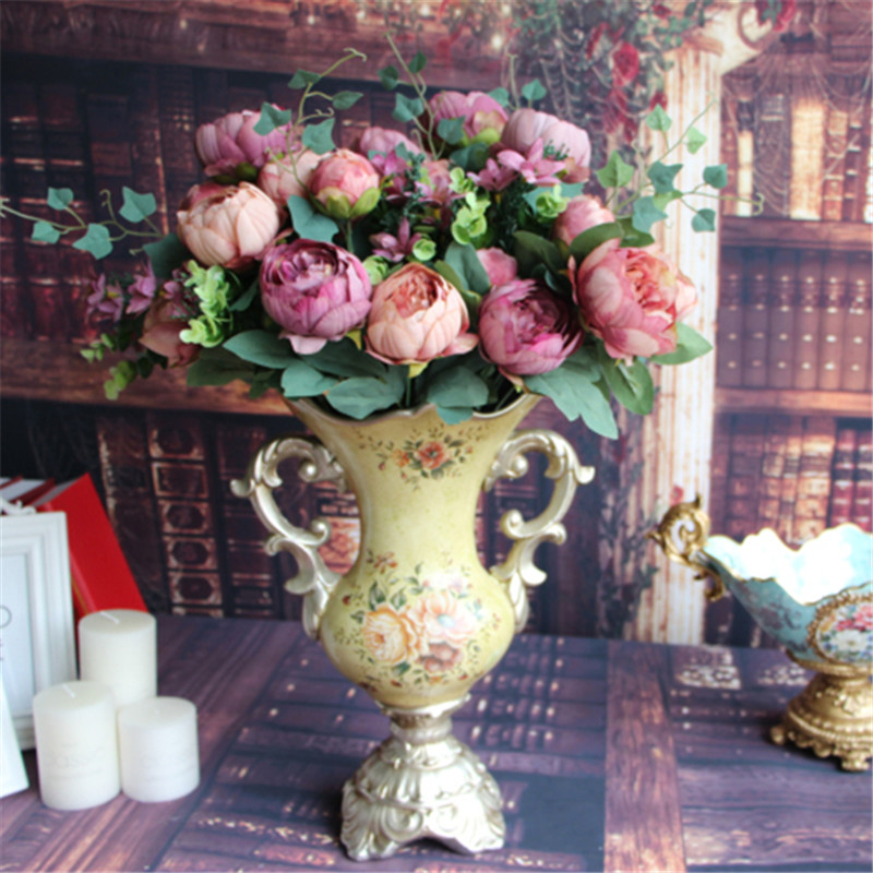 online buy wholesale silk flower arrangement from china silk flower arrangement wholesalers. Black Bedroom Furniture Sets. Home Design Ideas