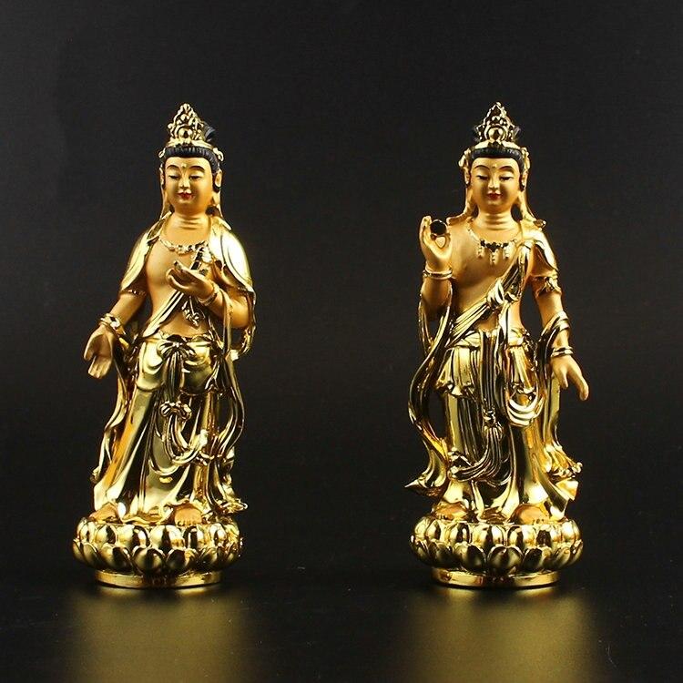 コレクション中国チベット仏教樹脂サンシャインクワン観音月光観音菩薩像 -