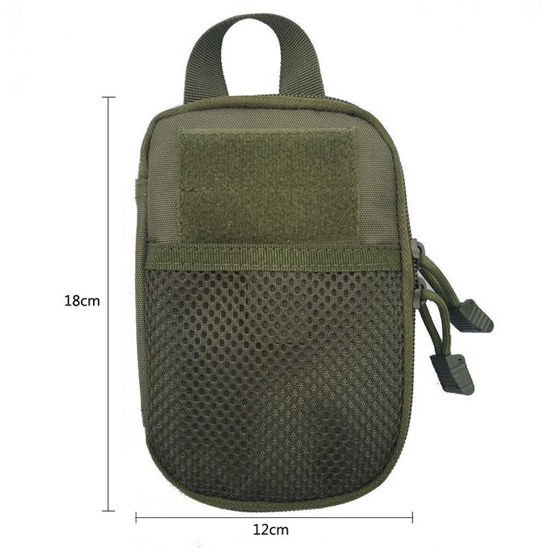 戦術的なバッグ 1000D ナイロン屋外モール軍事ウエストファニーパック携帯電話ケースキーミニツールポーチスポーツバッグ