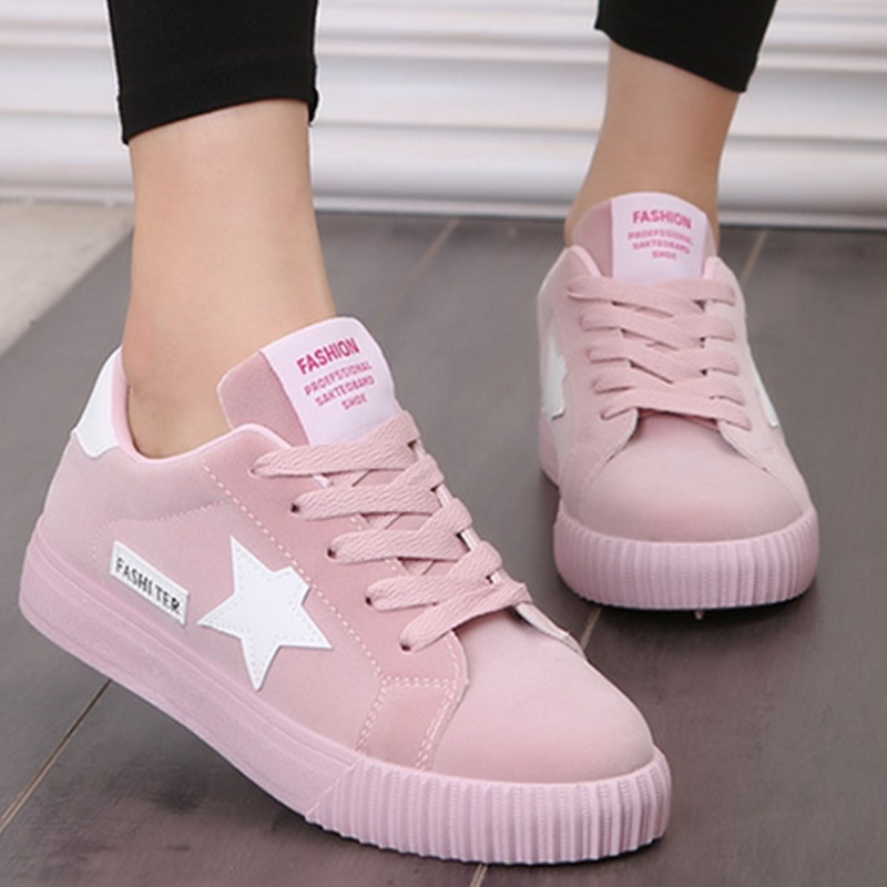 Fashion Flats Women Trainers Breathable Sport Woman Shoes Casual Comfortable Damping Eva Soles Platform Pink Shoes Zapatill 7ipupas hot selling fashion women shoes women casual shoes comfortable damping eva soles flat platform shoe for all season flats