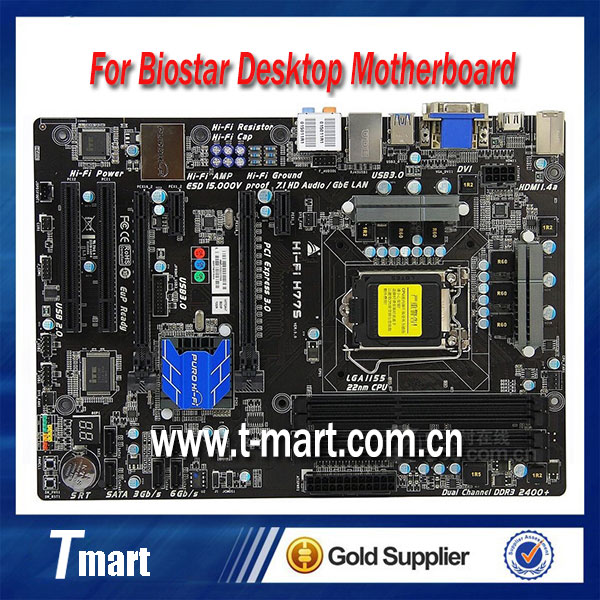 ФОТО Desktop motherboard for BIOSTAR Hi-Fi H77S LGA1155 DDR3 mainboard fully tested and perfect quality