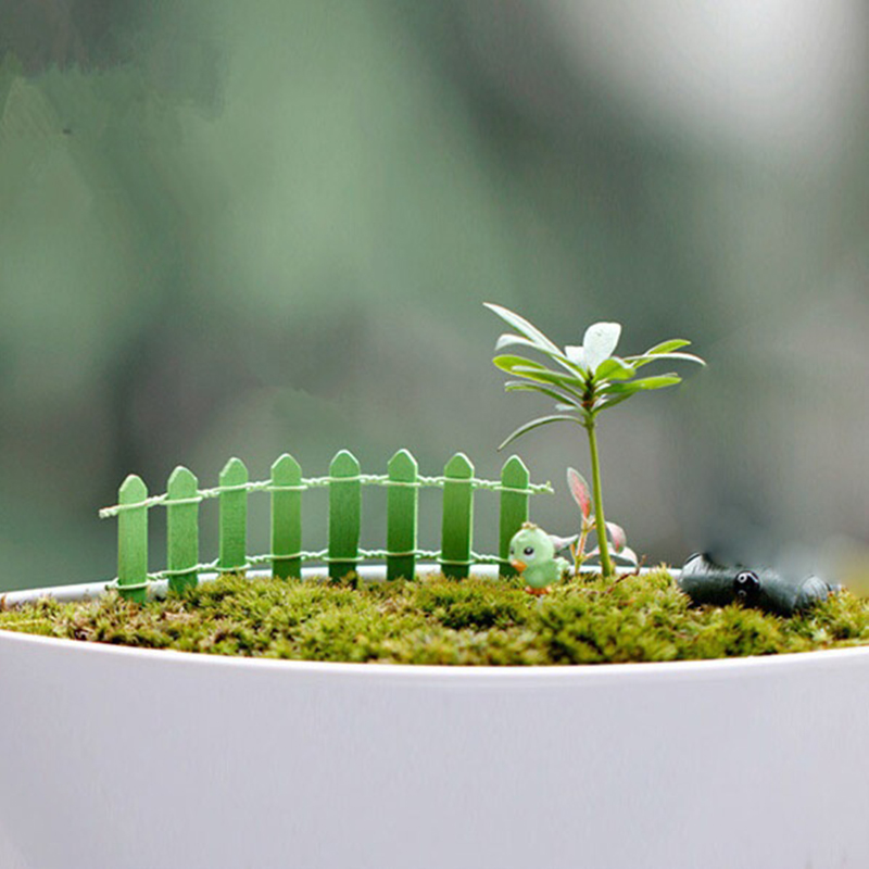 cheapest 1Pc 50x13cm White Plastic Tree Fence Courtyard Indoor Garden Fence Kindergarten Flower Garden Vegetable White Decor
