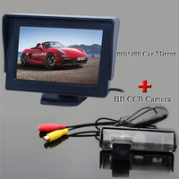 HD 4.3 Color TFT LCD Car Parking Car Monitor + Rear View Camera For Mitsubishi Challenger/Grandis/Nativa/For Pajero Sport