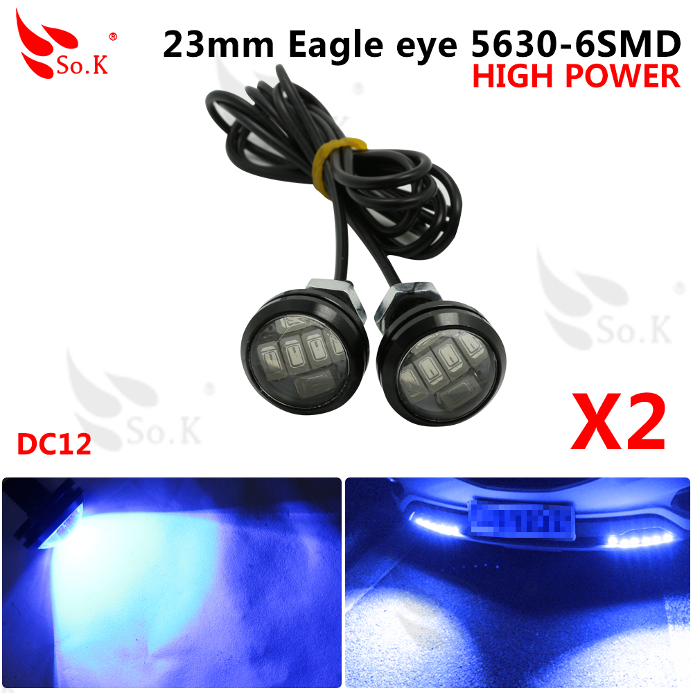2x Super Bright 6/8/10/12 LED Eagle Eye DRL Flexible Strip Waterproof Daytime Running LightS Car styling auto parking Fog light 2pcs led car fog lamp super bright 1000lm waterproof drl eagle eye light external lights daytime running lights