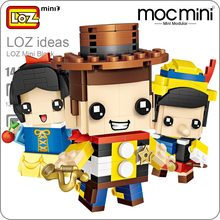 LOZ Mini Blocks Figure Cartoon Squirrel Mermaid Bear Princess Robot Cowboy Elephant Building Blocks Bricks Assembly