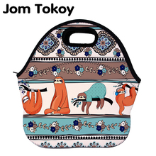 Jom Tokoy sloth Thermal Insulated print Lunch Bags for Women Kids Bag Box Food Picnic Tote Handbags