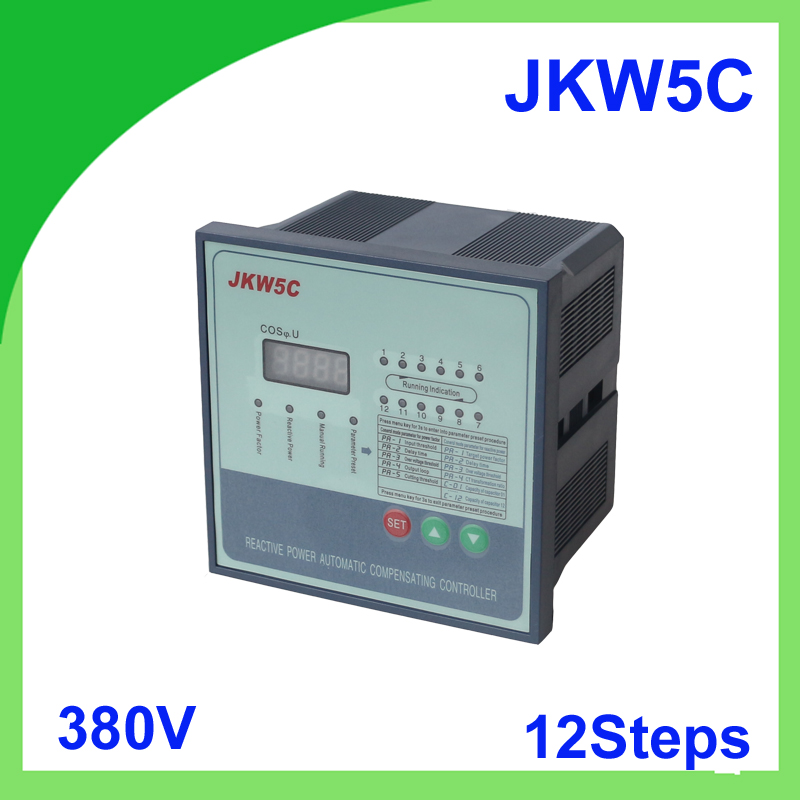 JKW5C JKL5C power factor 380v 12steps Reactive power automatic compensation controller capacitor for 50/60HZ jkw5c 12 power factor regulator compensation controller for power factor capacitor 12steps 380v