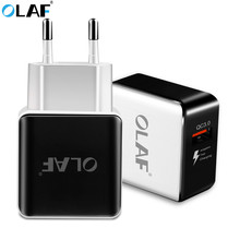OLAF Quick Charge 3 0 USB Charger EU Plug Home Wall Charger Adapter Travel Power Fast Charging Adapter For iPhone Samsung Xiaomi cheap 5V 3A ROHS APPLE Nokia SONY Motorola Other Blackberry Huawei Lenovo MEIZU Universal Qualcomm Quick Charge 3 0 Qualcomm Quick Charge 2 0