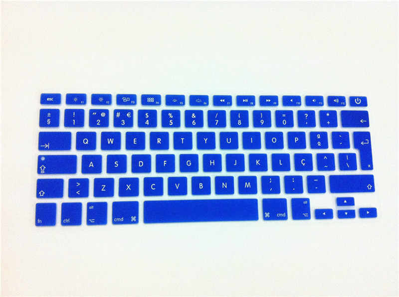 """Portugis bahasa eu/uk silicone keyboard skin cover protector untuk macbook pro retina air 13.3 15.4 17 inch 13 """"15"""" 17"""""""